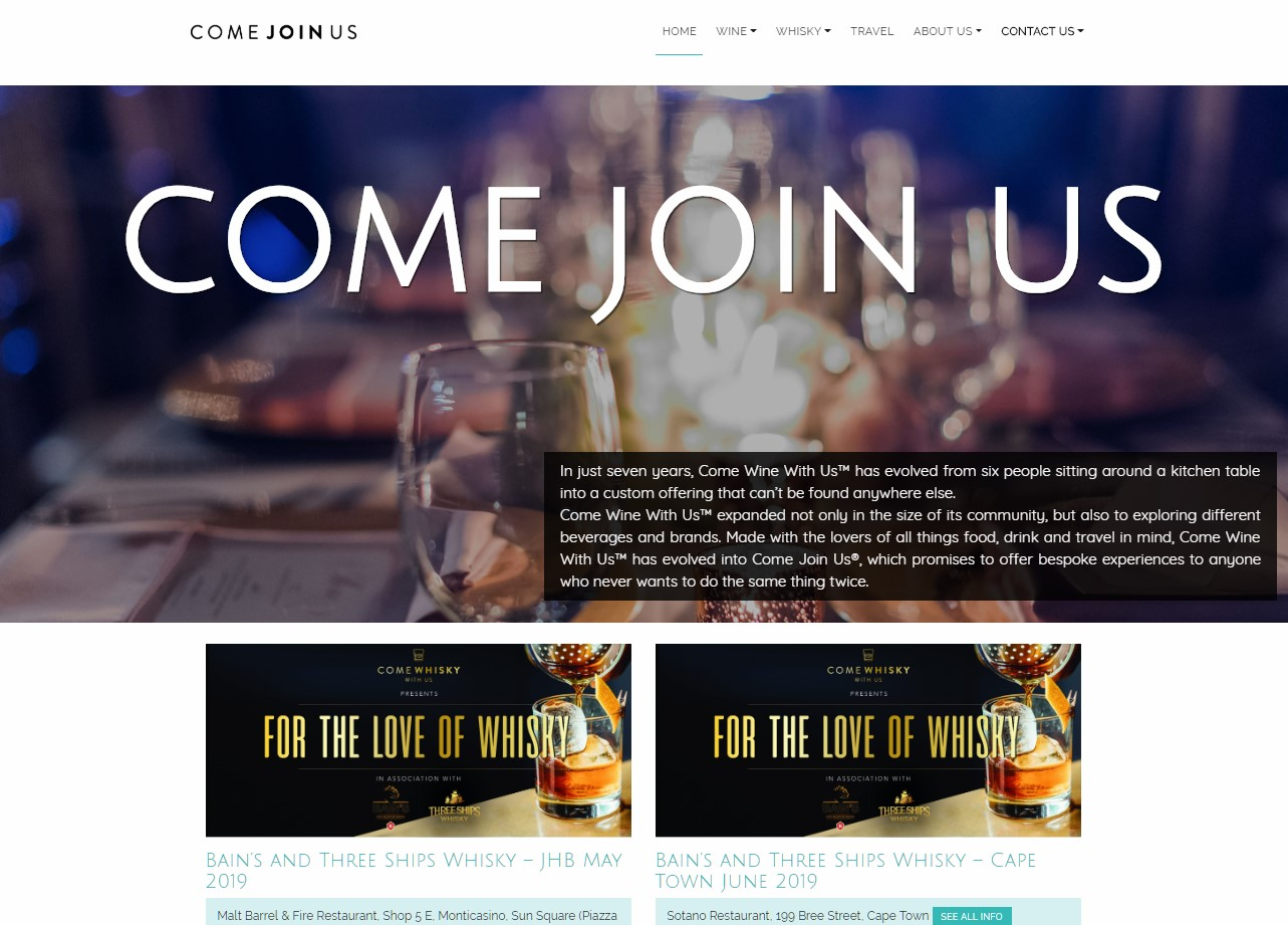 Come Join Us Website