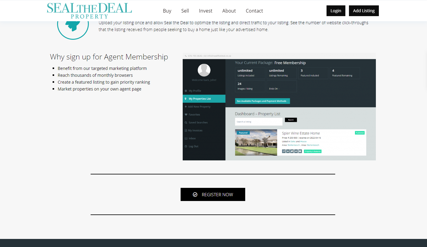 Seal the Deal Website