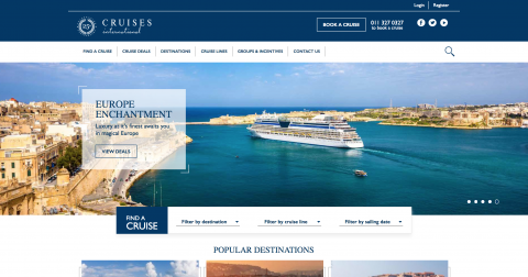 Cruises International Websites for Benchmark Digital