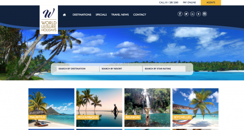 World Leisure Holidays Website for Benchmark Digital