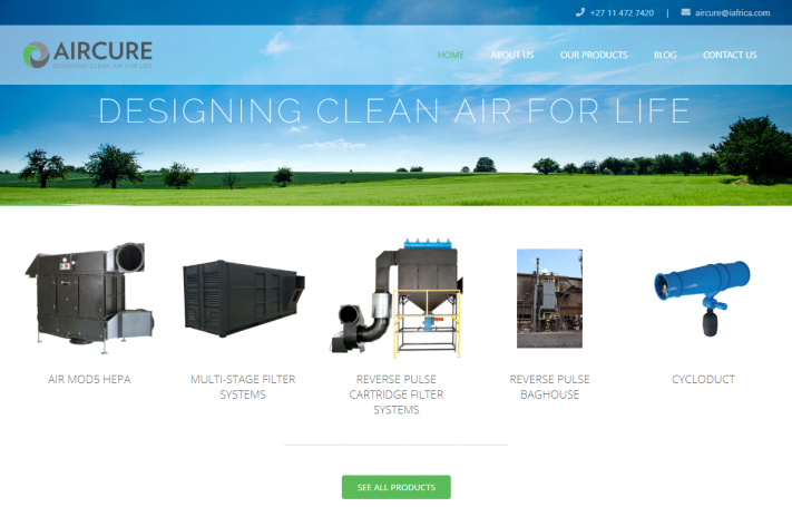 Aircure Website Refresh