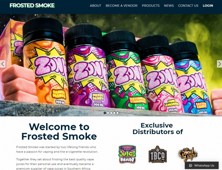 Frosted Smoke Website