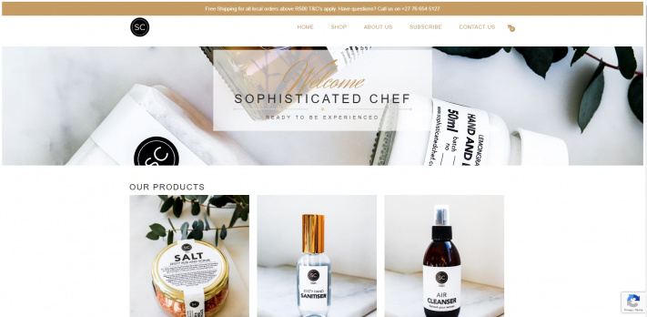 Sophisticated Chef Shop Refresh
